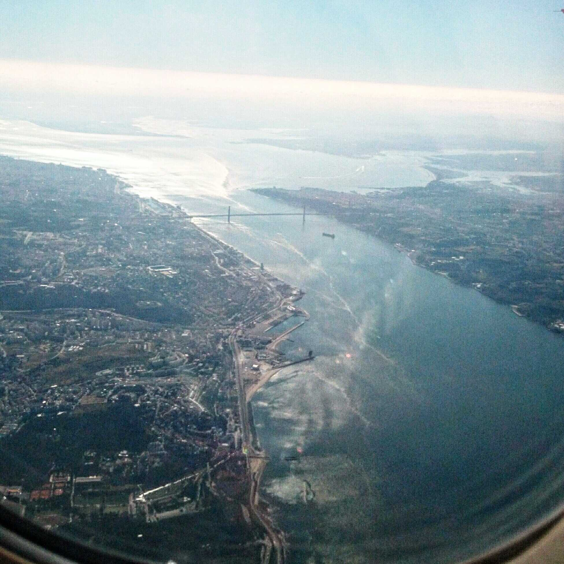 best plane window seat view between London and Lisbon