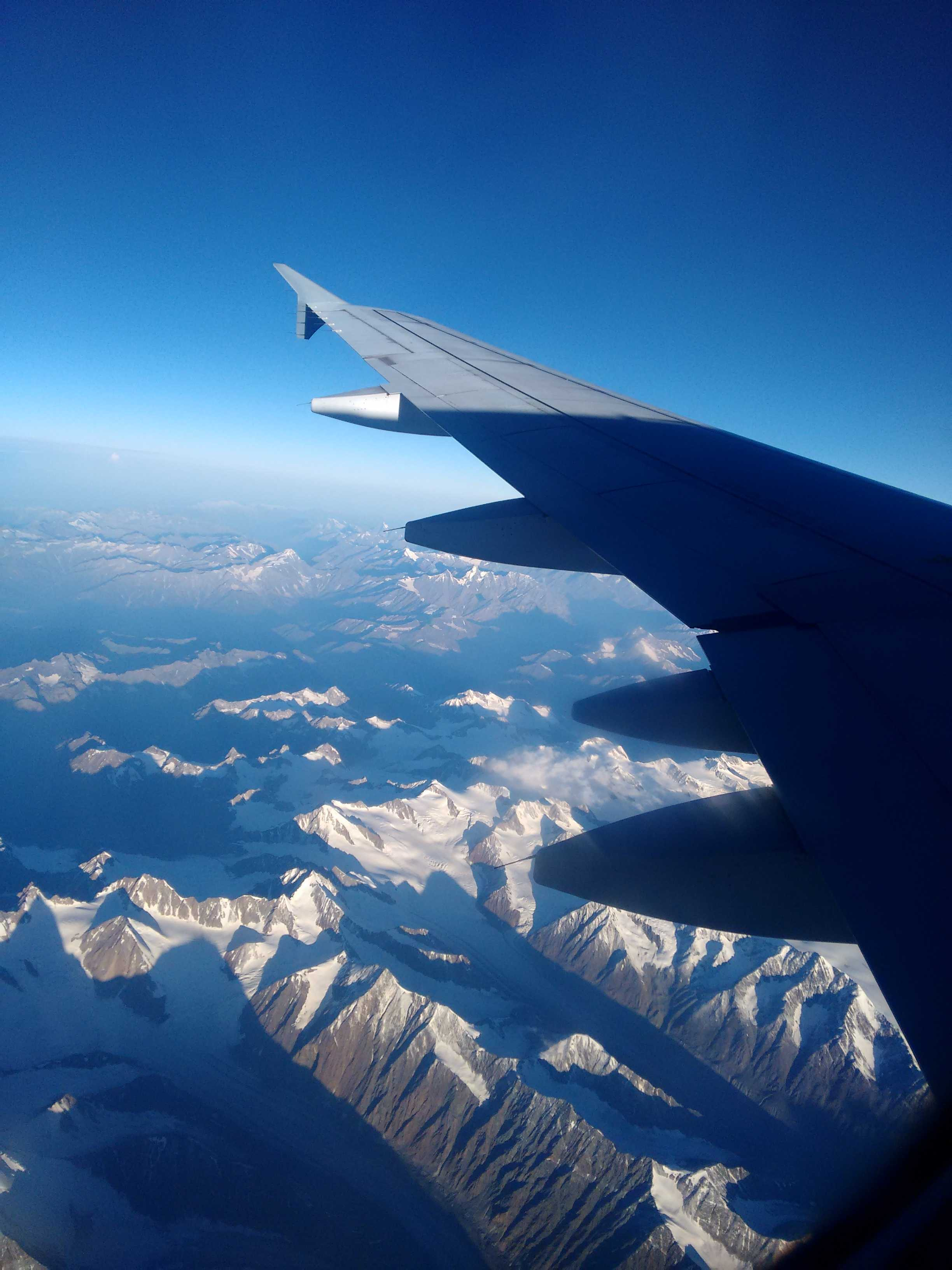 Best Plane Window Seat View Between New Delhi And Leh